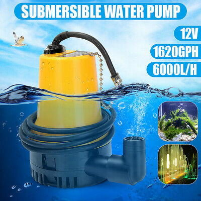 Dc12v 1620gph 4500rmp Submersible Water Pump Clean Clear Dirty Pool Pond Flood
