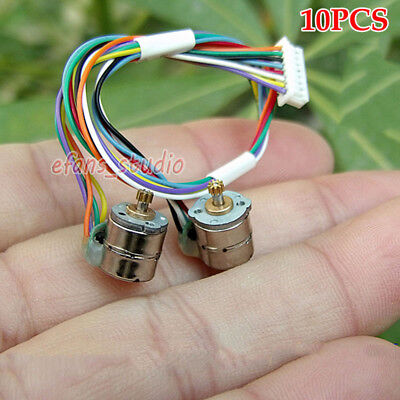 10pcs 2-phase 4-wire Mini 8mm Stepper Motor Small Stepping Motor Copper Gear Diy