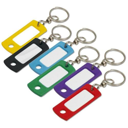 Key ID Tag with Swivel Ring 10 Pack Assorted Colors Lucky Line 16802