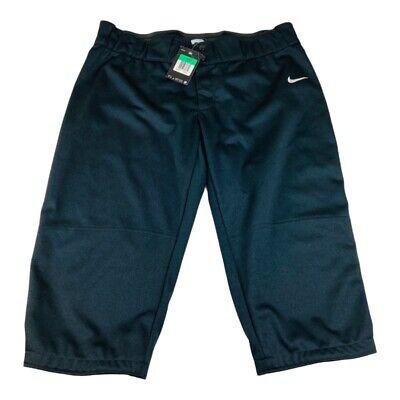 Nike Womens Softball Pants Black Mid Rise XL New