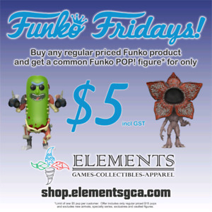 $5 Funko Friday at Elements Games, Collectibles and Apparel
