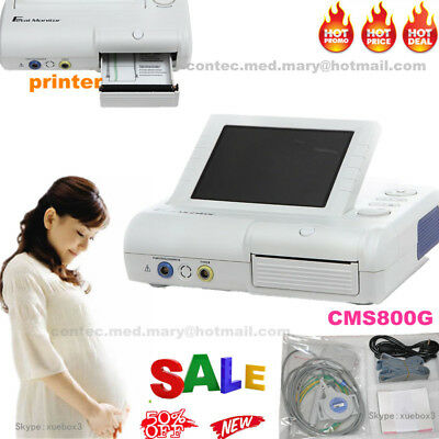 Cms800g Fetal Monitor Ultrasound Baby Heart Rate Fetus Movement Mark Toco Sensor