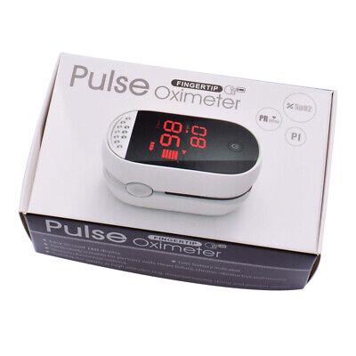 Finger Pulse Oximeter Blood Oxygen Spo2 Monitor Pr Pi Respiratory Rate Fda Ce