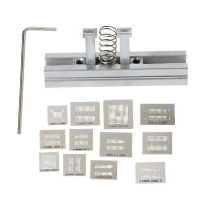13pcs Universal Stencil Template Bga Reballing Holder Jig For Ddr1 Ddr2 Ddr3