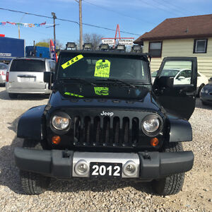 2012 Jeep Wrangler SUV, Crossover two tops 1 year warranty