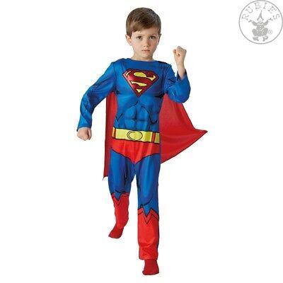 Lizenz Kostüm DC Comics Karneval Jungen 98 104 116 128 134  (Superman Kostüm Junge)