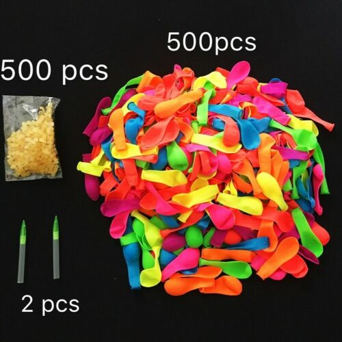 500 pcs Water Balloons for Water Fighter, with 500 Seal Bands