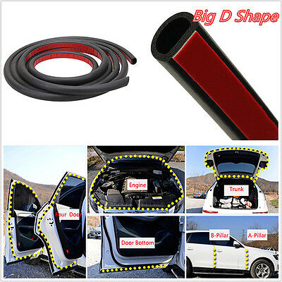 8M Big D-Shape Moulding Trim Rubber Strip Car Door Edge Seal Weather-strip EPDM