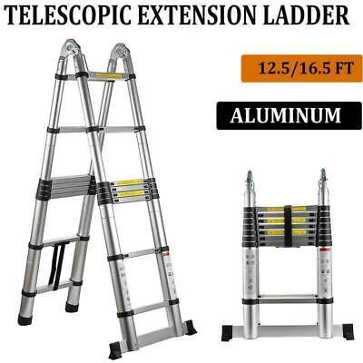 Multi Purpose Aluminum Telescopic Ladder Heavy Duty Folding