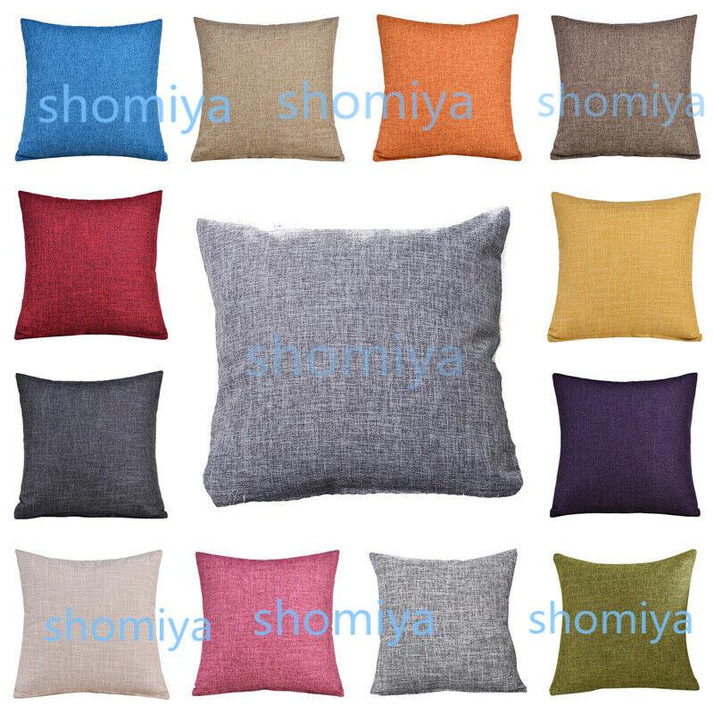 "Home Decoration - UK 16"" 18"" 20"" 22"" Large Plain Linen Cushion Cover Pillow Cases Home Decor STOCK"