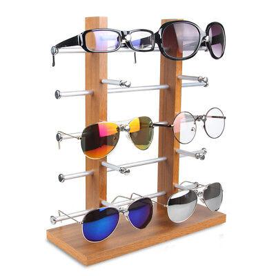 Double Row Wood Sunglass Display Shelf Show Case Racks Eye Glasses Show Stand