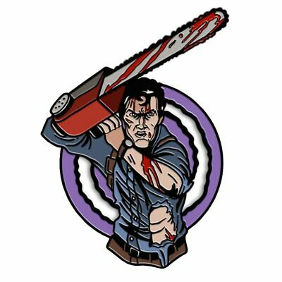 The Evil Dead ASH Halloween Horror Movie Enamel Clutch Cartoon Retro Tie Pin NEW