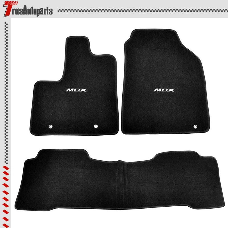 For 01-06 Acura MDX 4Dr Black Nylon Floor Mats 3PC Carpets