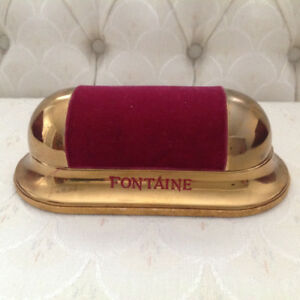 Vintage Fontaine Velvet Art Deco Watch Box and Watch