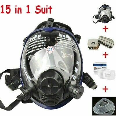 Usa 15 In 1 For 6800 Facepiece Respirator Gas Mask Full Face Spraying Painting