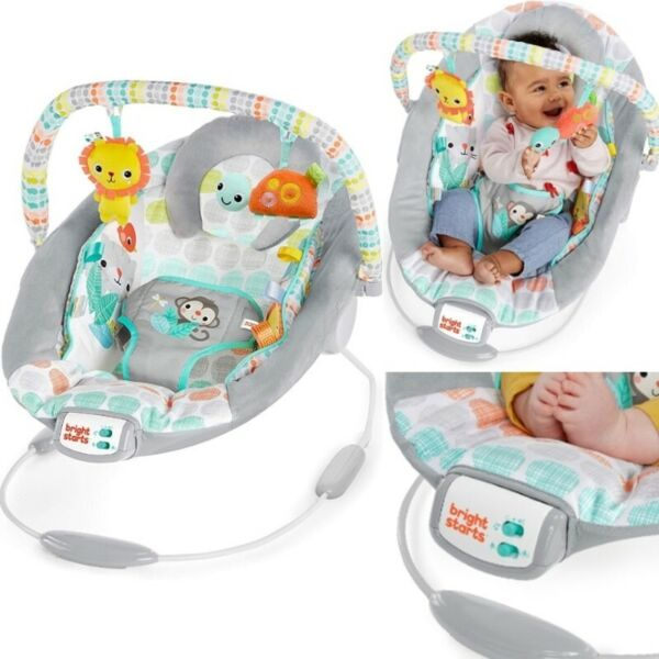 BNIB: Bright Starts Whimsical Wild Cradling Bouncer Seat with Soothing Vibration & Melodies