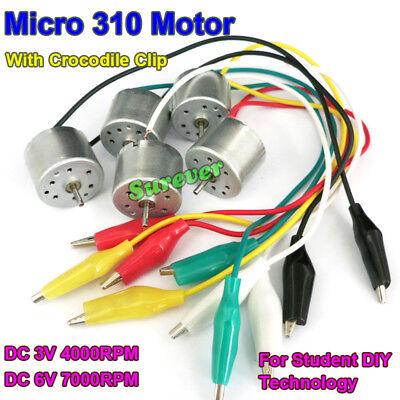 Dc 1.5v6v 7000rpm Mini 310 Solar Motor W Crocodile Clip Diy Student Project