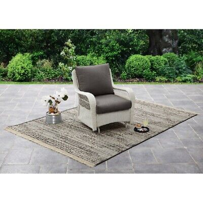BETTER HOMES & GARDENS COLEBROOK OUTDOOR GLIDER CHAIR, WHITE/GRAY *DISTRESSED
