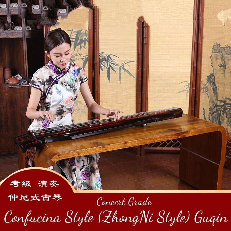 """48"""" Professional Guqin Chinese 7-stringed zither instrument Zhong-Ni Style #598"""