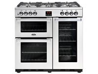 **NEW** Belling Cookcentre 90cm Dual Fuel Range cooker in Stainless Steel