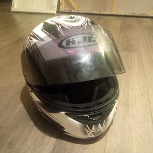 HJC Women's Motorcycle Helmet XS - Pink Design