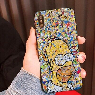 Simpson 8 (Simpson Cartoon Painted Hard Phone Back Cover Case Skin For iPhone 8 X XS MAX SW)