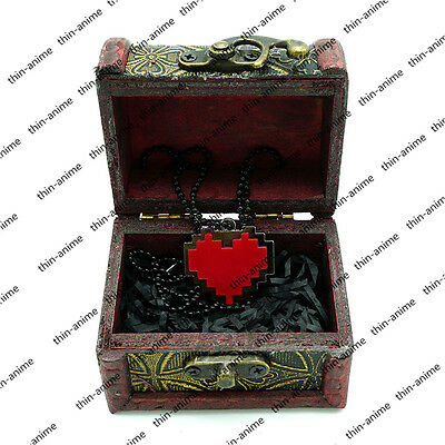 Game Undertale Firstk Love Red Heart Necklace Pendant Cosplay Gift  Display Box