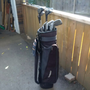 Men's RH clubs with bag