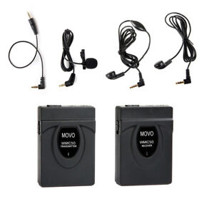 Movo 2.4GHz Wireless Lavalier Microphone System