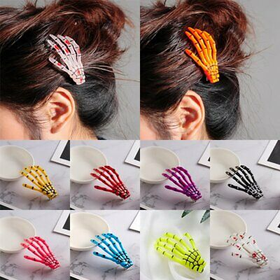 Fashion Paw Luminous Hair Clip Hairpin Skeleton Ghost Hand Halloween - Halloween Skeleton Hair