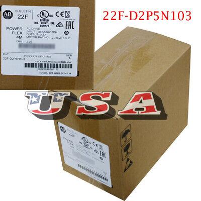 Allen-bradley 22f-d2p5n103 Powerflex 4m Plc 240vac Drive 0.75 Kw 480v Input 3 Ph