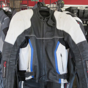 Velocity Leather Motorcycle Race Track Suit Jacket Pants RE-GEAR