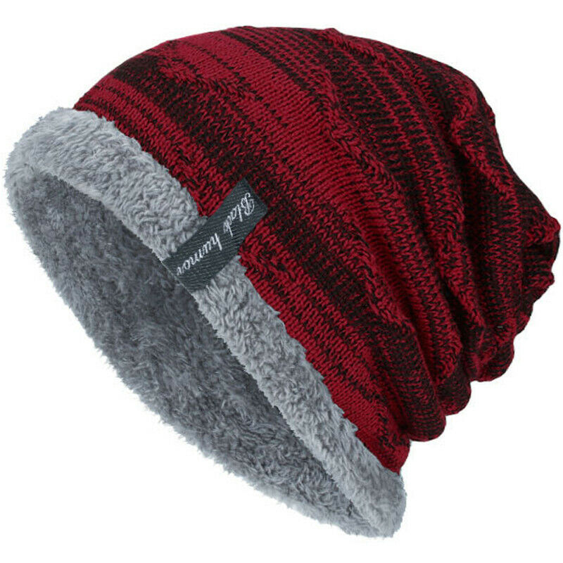 Unisex Knit Slouch Outdoor Lined Cap Snow