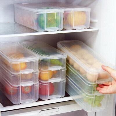 Food Storage Organizer (Kitchen Fridge Food Storage Container Organizer Holder Fruit Box Multi Layers vb)