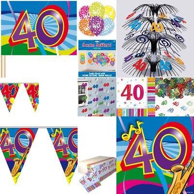 40. Geburtstag Dekoration mit der Zahl 40 Deko - Dekoration Der Party