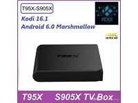 T95X android box, bnib, 2gb Ram and 8gb Rom, kodi 16.1, android os marshmallow 6.0.