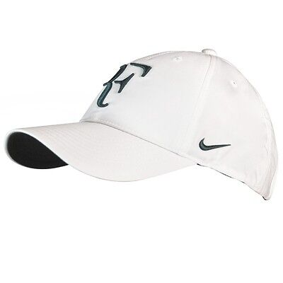 NEW Nike Roger Federer RF Hybrid Cap Hat WHITE 371202-105 Tennis Rare