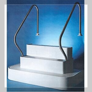In Step Inground Drop in Pool Stairs with 2 rails