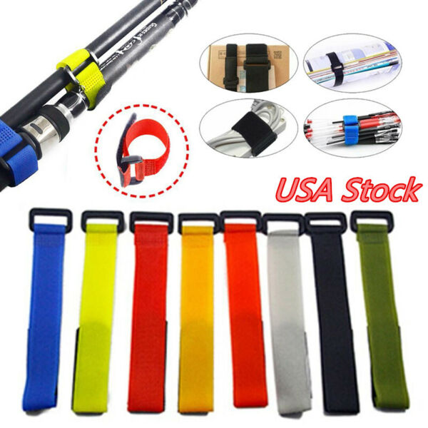 10X-Outdoor-Fastener-Fishing-Rod-Tie-Fishing-Accessories-Battery-Straps-Tools-US