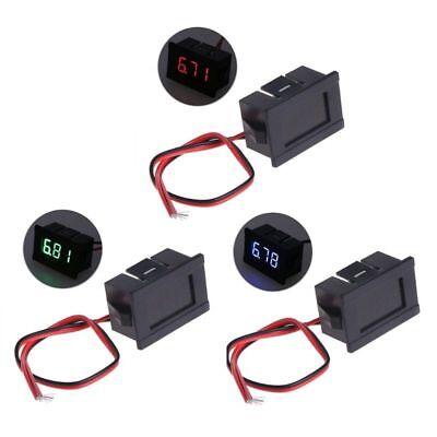 Dc 30v Voltage Volt Meter Voltmeter Redbluegreen Led Panel 3-digital Display