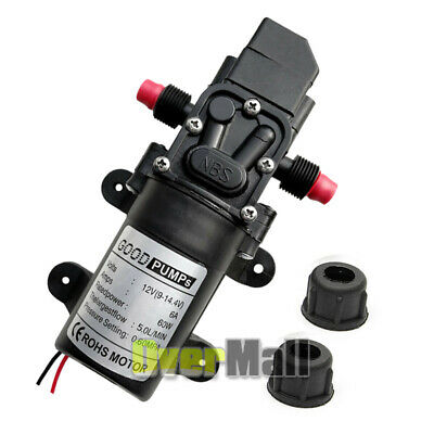 12volt Dc Water Pump Diaphragm Self Priming Sprayer Rv Camper Marine Boat Shower