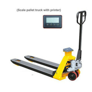 pallet jack with scale, long pump truck, heavy duty, short, narr