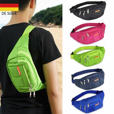 4 Fächer Bauchtasche Hüfttasche Gürteltasche Sporttasche Bodybag Damen Herren