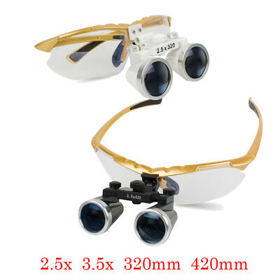 2.5x 3.5x 320 420 Dental Surgical Loupes Medical Binocular Glasses Magnifier New