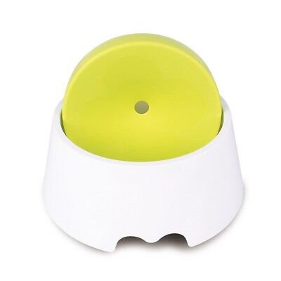 Pet Water Bowl New Splash Proof Green Creative Drinker Dish Feeder For Dog Cat