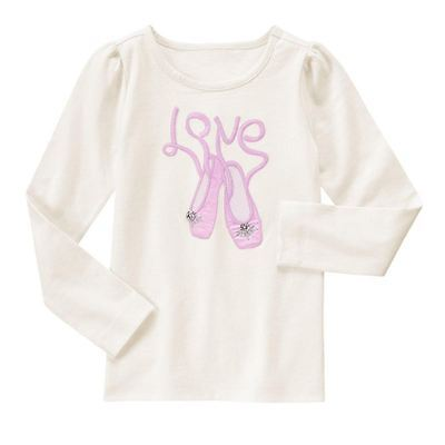 Gymboree Everyday Dress Up Love Ballet slippers Top New NWT Girls 8 shoes  - Dress Up Ballet Shoes