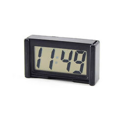 LCD Automotive Digital Car Clock Self-Adhesive Stick On Time Portable Small New