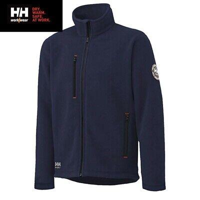 Helly Hansen Workwear Men's Red Lake Zip In Fleece Jacket Size 2XL Blue 72112