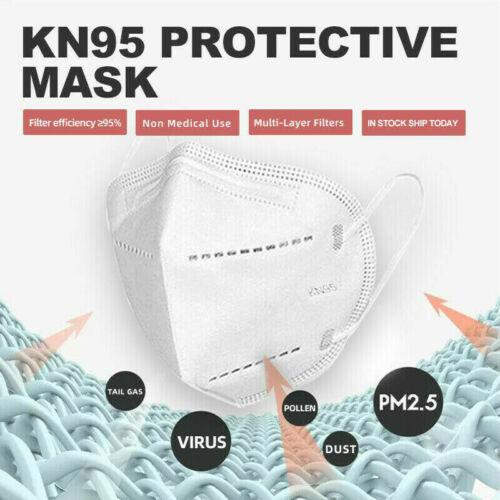 La Ship 5 Layers Kn95 50 Pcs Face Mask Bfe 95% Pm2.5 Disposable Respirator