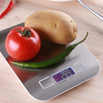 5KG/1g LCD Display Digital Küchenwaage Haushalt Feinwaage Edelstahl KitchenScale